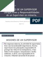 Misiones de Un Supervisor Minero