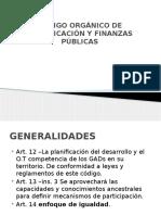 Código Orgánico de Planificacion y Finanzas Públicas