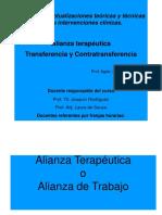 PPT - Alianza Terapéutica, Transferencia y Contratransferencia 2014 (1)
