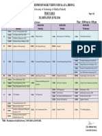 8th Semester Time Table