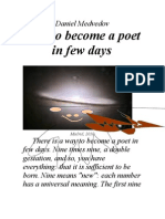 How to Become a Poet in Few Days