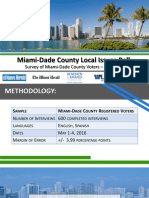 Miami Dade Local Issues Poll WAVE 1