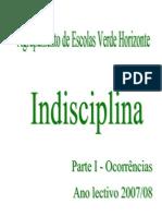 Análise - indisciplina - 1ª fase