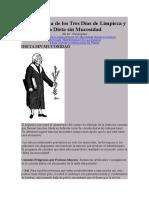 El Programa de Los Tres Días de Limpieza y La Dieta Sin Mucosidad.docx Dieta Amucosa