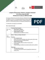 Congreso Museos y Paisaje Culturales-Programa oficial