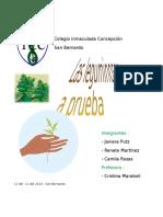Las Leguminosas a Prueba Informe Biologia