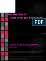 Parameters in employee relationship