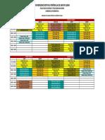 Horarios Carrera Informatica 2016-1
