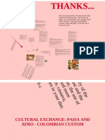 "Cultural Exchange ""Paisa and Afro-Colombian Cultures"""