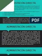 Admon Directa