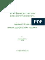 Geología, Geomorfología y Fisiografía