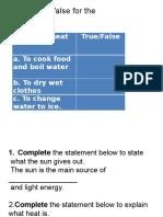 quiz heat