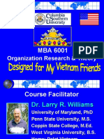 VN -MBA 6001- Org Research & Theory