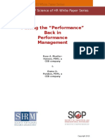 SHRM-SIOP Performance Management