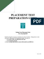 Placement Test Preparation Guides