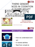 ARE THERE GENDER DIFFERENCES IN COGNITION AMONG OLDER ADULT