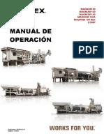 Manual Operacion planta Asfalto terex 140