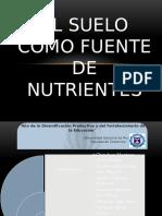 El Suelo Como Fuente de Nutrientes H
