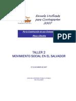 Movimientos sociales en El Salvador