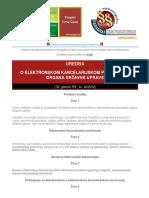 Uredba o Elektronskom Kancelarijskom Poslovanju Organa Drzavne Uprave