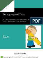disaggregated data