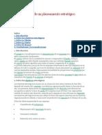 Generalidades de Un Planeamiento Estratégico