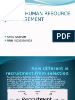 How Different is Recruitment From Selection Stham 1