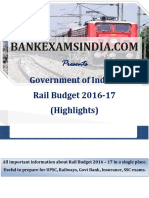 Railway Budget Highlights Capsule_BankExamsIndia_com