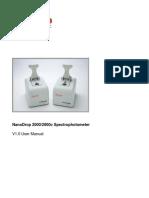 NanoDrop 2000 User Manual En