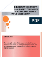 ADVANCED RAILWAY SECURITY SYSTEM (ARSS) BASED ON ZIGBEE COMMUNICATION FOR TRACK FAULT DETECTION