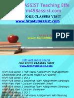 HRM 498 ASSIST Teaching Effectiverly/hrm498assist.com