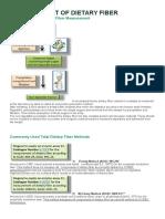 Measurement of Dietary Fiber