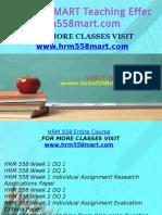 HRM 558 MART Teaching Effectively/hrm558mart.com