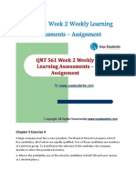 QNT 561 Week 2 Weekly Learning Assessments - Assignment