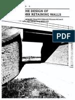 Design of Brick Retaining Walls