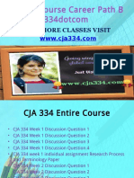 CJA 334 Course Career Path Begins Cja334dotcom