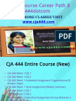 CJA 444 Course Career Path Begins Cja444dotcom