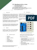 Práctica 5 - Código Binario en Arduino