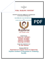 Intra Mailing System Documentation a ASP Net Project Krishna