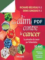 Les Aliments Contre Le Cancer, Nouvelle Edition Revue Et Augment