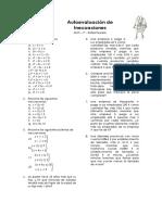 Autoevaluación de Inecuaciones MCS 1º