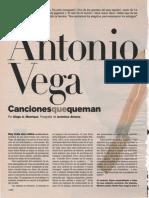 Antonio Vega, entrevistado en El País