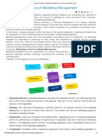 Meaning & Functions of Marketing Management - General Knowledge Today