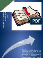 Presentación de la Norma Internacional de Auditoria 550