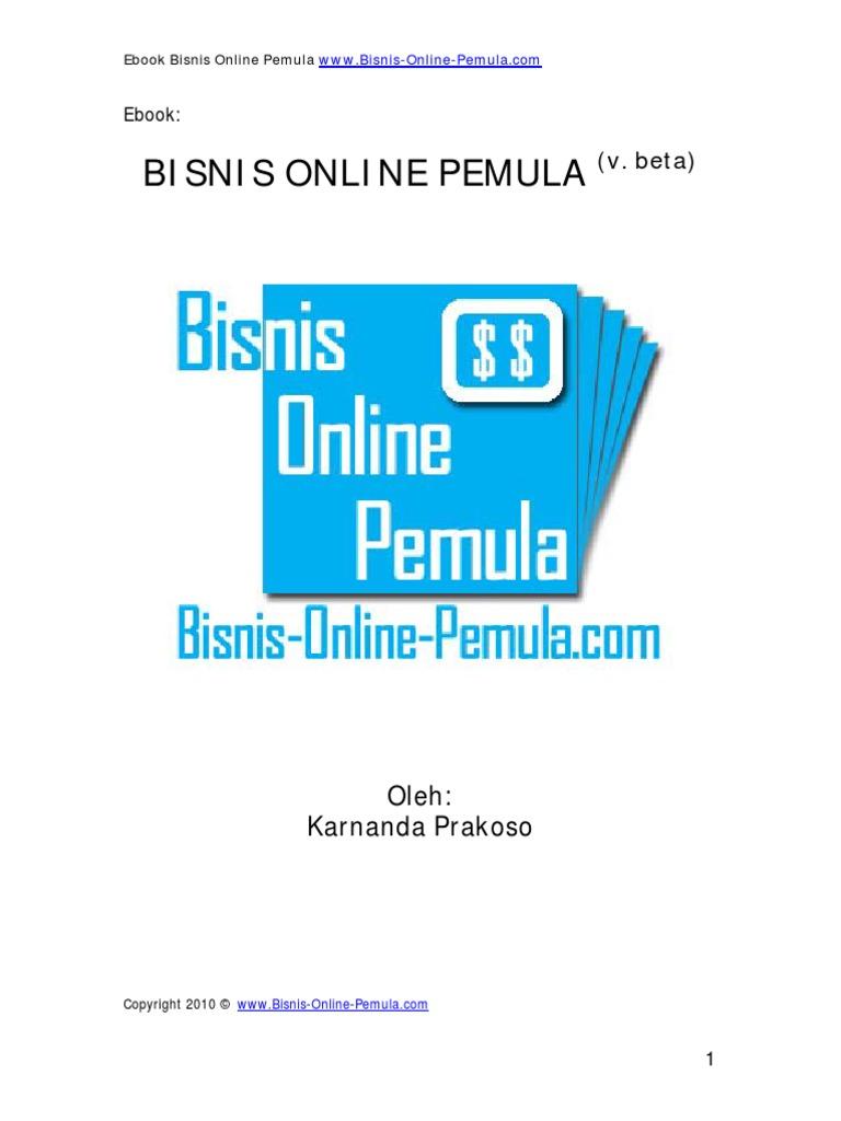 Bisnis Pemula Online - Cara Mendapatkan Uang Dari Internet