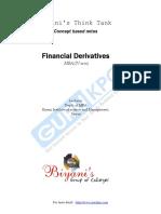 Financial Derivatives Notes MBA