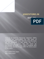 IBPS PO Exams details | jobzstore.in