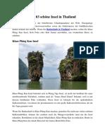 Top 03 Schöne Insel in Thailand