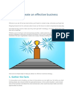 6 Steps to Create an Effective Business Strategy