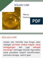 ISOLASI CAIR Minyak Trafo